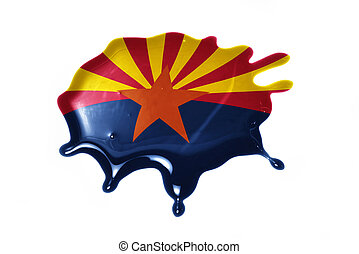 blot with arizona state flag on the white background