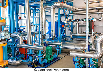 Industrial water pipes