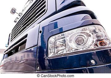 frente, luz, moderno, camión