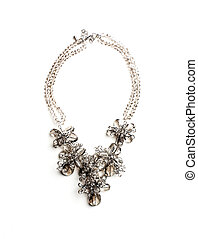 necklace made of glass beads isolated