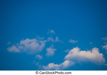 Fluffy Cloud with Blue Sky