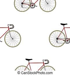 Vintage Bicycle Seamless Pattern - Vintage Bicycle color...