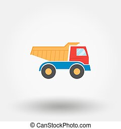 Truck toy icon.