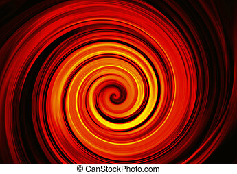 twirl motion of bright explosion flash on black backgrounds...