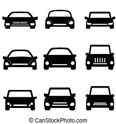 Car and automobile icons