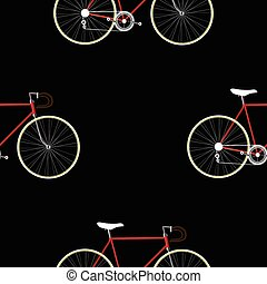 Vintage Bicycle Seamless Pattern - Vintage Bicycle color...