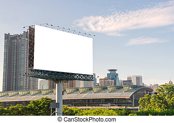 Blank billboard or road sign ready for new advertisement