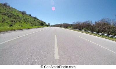 Traffic on road, Turkey streets - Gopro traffic on road,...