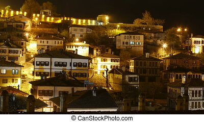 """Night Timelapse, Traditional Ottoman Anatolian Village, Safranbolu, Turkey"""