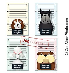 Mugshot of cute dogs holding a banner 2 - Mugshot of cute...