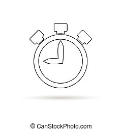 stopwatch white illustration - stopwatch sign white...
