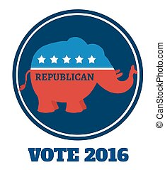 Republican Elephant Blue Label