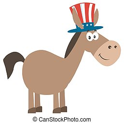 Donkey With Uncle Sam Hat