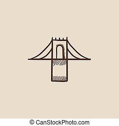 Bridge sketch icon. - Bridge sketch icon for web, mobile and...