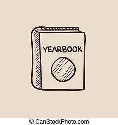 Yearbook sketch icon. - Yearbook sketch icon for web, mobile...