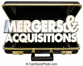 Mergers and Acquisitions Briefcase Business Company...