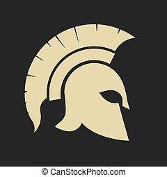 Spartan warrior Helmet