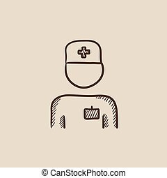 Nurse sketch icon. - Nurse sketch icon for web, mobile and...