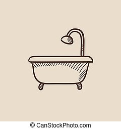 Duschkopf clipart  Clipart Vektor von dusche, badewanne - Cartoon, abbildung ...