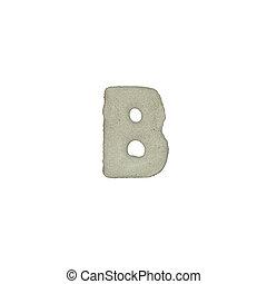 el, B, carta, cemento, textura, con, Recorte, Trayectoria,