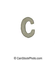 el, C, carta, cemento, textura, con, Recorte, Trayectoria,