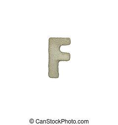 el, F, carta, cemento, textura, con, Recorte, Trayectoria,