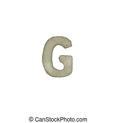 el, G, carta, cemento, textura, con, Recorte, Trayectoria,