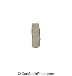 el, yo, carta, cemento, textura, con, Recorte, Trayectoria,