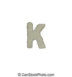el, K, carta, cemento, textura, con, Recorte, Trayectoria,
