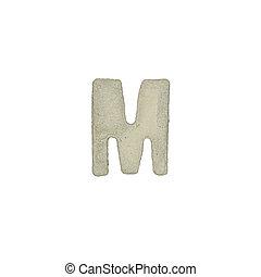 el, M, carta, cemento, textura, con, Recorte, Trayectoria,