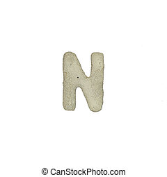 el, N, carta, cemento, textura, con, Recorte, Trayectoria,