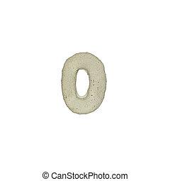 el, O, carta, cemento, textura, con, Recorte, Trayectoria,