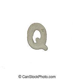 el, Q, carta, cemento, textura, con, Recorte, Trayectoria,