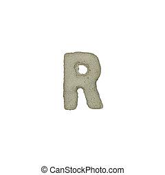 el, R, carta, cemento, textura, con, Recorte, Trayectoria,