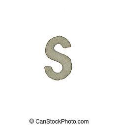 el, S, carta, cemento, textura, con, Recorte, Trayectoria,