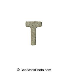 el, T, carta, cemento, textura, con, Recorte, Trayectoria,