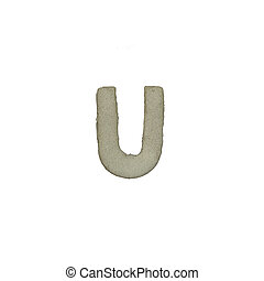 el, U, carta, cemento, textura, con, Recorte, Trayectoria,