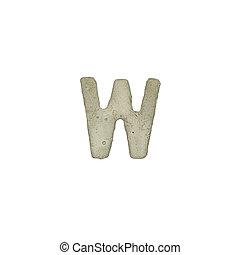 el, W, carta, cemento, textura, con, Recorte, Trayectoria,