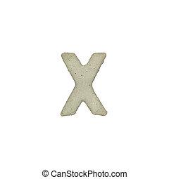 el, X, carta, cemento, textura, con, Recorte, Trayectoria,
