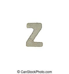 el, Z, carta, cemento, textura, con, Recorte, Trayectoria,