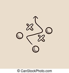 Tactical plan sketch icon - Tactical plan sketch icon for...