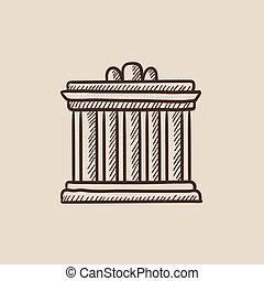 Acropolis of Athens sketch icon - Acropolis of Athens sketch...