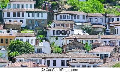 """Timelapse of Historical White Houses, Sirince Village, Turkey, zoom out"""