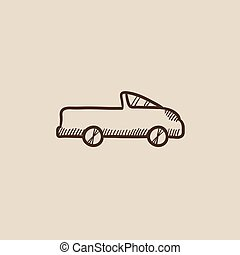 Pick up truck sketch icon. - Pick up truck sketch icon for...