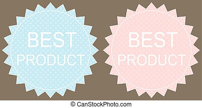 Best product Label on grey background Vector
