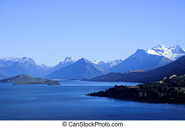 Queenstown and Remarkables range - Remarkables mountain...