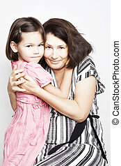 Portrait of a grandmother with her - Portrait of a beautiful...