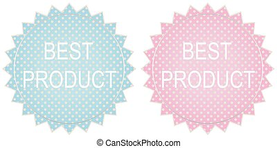 Best Product Signs Set Vector image Best product