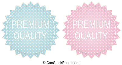 vector premium quality label