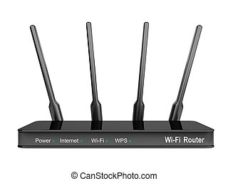 Modern Wi-Fi Router.